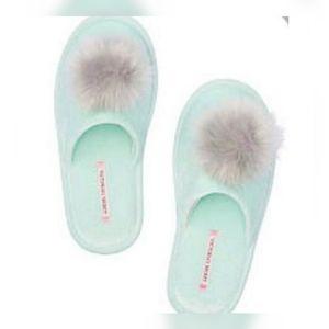 New Mint Green Victoria Secret Pom Pom sleepers